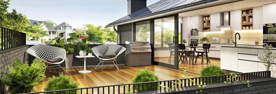 Salon de jardin sur son balcon